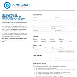 Renew your support of the Democratic Party