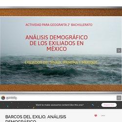 BARCOS DEL EXILIO. ANÁLISIS DEMOGRÁFICO by sociarteprof on Genial.ly