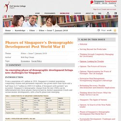 Phases of Singapore's Demographic Development Post World War II