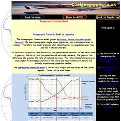 GCSE Demographic Transition Model