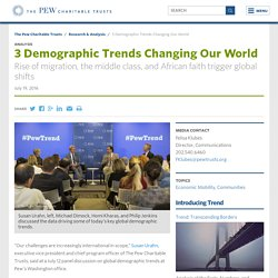 3 Demographic Trends Changing Our World