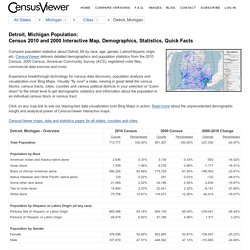 Detroit, MI Population - Census 2010 and 2000 Interactive Map, Demographics, Statistics, Quick Facts - CensusViewer