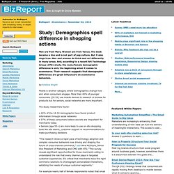 Study: Demographics spell difference in shopping actions - Ecommerce