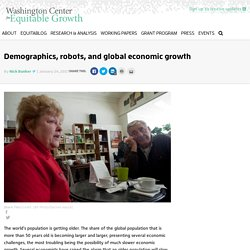 Ageing Populations Could be Good for the Economy