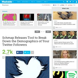 Schmap Releases Tool to Break Down the Demographics of Your Twitter Followers