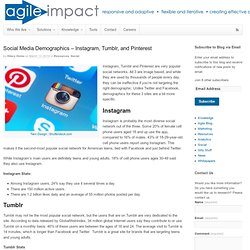 Social Media Demographics – Instagram, Tumblr, and Pinterest - Agile Impact