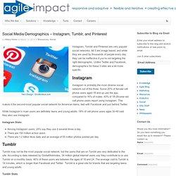 Social Media Demographics – Instagram, Tumblr, and Pinterest - Agile Impact