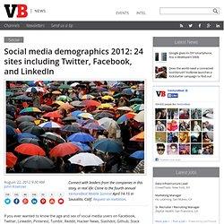 Social media demographics 2012: 24 sites including Twitter, Facebook, and LinkedIn