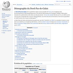 Démographie du Nord-Pas-de-Calais