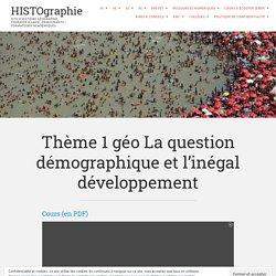Thème 1 géo Démographie & développement