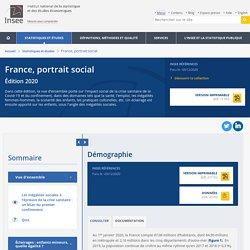 Démographie − France, portrait social