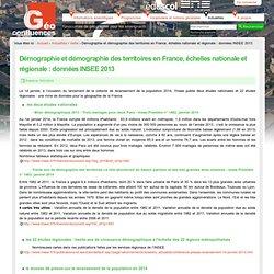 Démographie et démographie des territoires en France, échelles nationale et régionale : données INSEE 2013