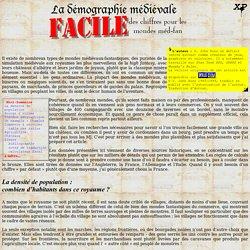 XP / le Démon : La démographie médiévale FACILE