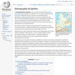 Démographie du Québec