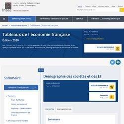 Démographie des sociétés et des EI − Tableaux de l'économie française