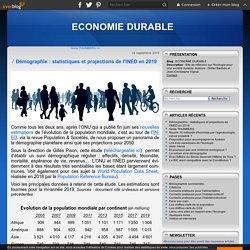 Démographie : statistiques et projections de l'INED en 2019 - ECONOMIE DURABLE