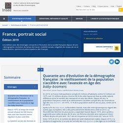 Quarante ans d'évolution de la démographie française: le vieillissement de la population s'accélère avec l'avancée en âge des baby-boomers − France, portrait social