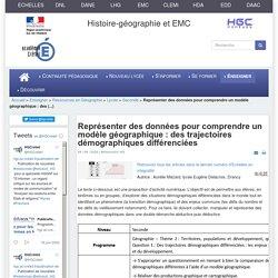 HGCréteil - Représenter des données pour comprendre un modèle géographique : des trajectoires démographiques différenciées