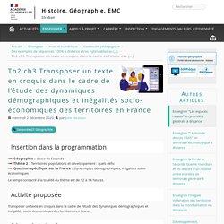 Transposer un texte en croquis dans le cadre de l'étude des dynamiques démographiques et inégalités socio-économiques des territoires en France