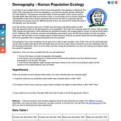 Demography Study Using Cemetery Data