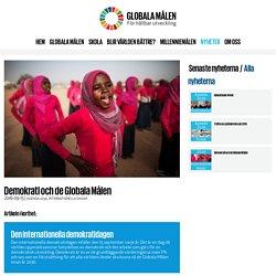 Demokrati och de Globala Målen - Globala målen