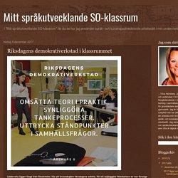 Mitt språkutvecklande SO-klassrum: Riksdagens demokrativerkstad i klassrummet