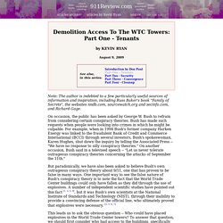 Demolition Access to the WTC Towers: Part One - Tenants