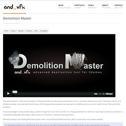 Demolition Master | and_vfx Eloi Andaluz