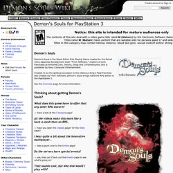 Demon's Souls for PlayStation 3 - Demon's Souls English Wiki