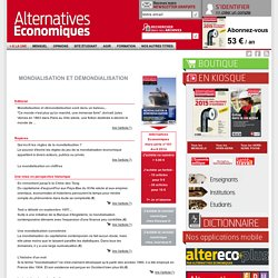 Mondialisation et démondialisation n°101 Avril 2014 - Alternatives Economiques (à retrouver au CDI)