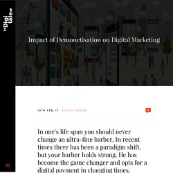Impact of Demonetisation on Digital Marketing