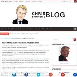 India's demonetisation - taking the bull by the horns - Chris Skinner's blog