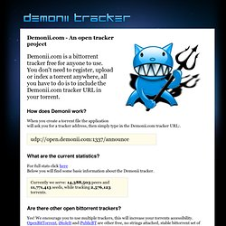 Demonii Tracker Project
