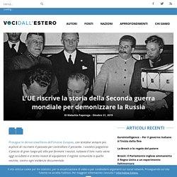 L'UE riscrive la storia della Seconda guerra mondiale per demonizzare la Russia