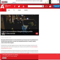[Video] Demonstranten Maagdenhuis en politie slaags in Beursstraat - AT5