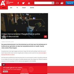 at5: Demonstranten Maagdenhuis en politie slaags in Beursstraat