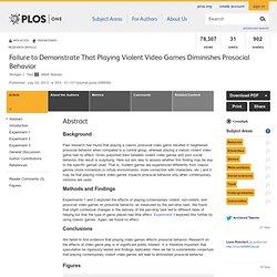 Etude affirmant que les jeux vidéos violents n'influencent pas le comportement