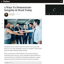 5 Ways To Demonstrate Integrity At Work Today