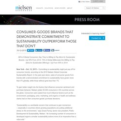 Consumer-Goods' Brands That Demonstrate Commitment to Sustainability Outperform Those That Don't