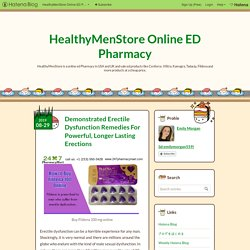 Demonstrated Erectile Dysfunction Remedies For Powerful, Longer Lasting Erections - HealthyMenStore Online ED Pharmacy