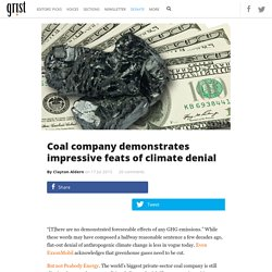 Coal company demonstrates impressive feats of climate denial