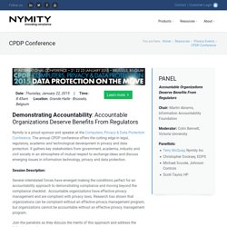 CPDP Conference 2015: Demonstrating Accountability
