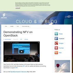Demonstrating NFV on OpenStack - Cloud Evolution Blog
