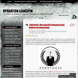 #OpPayPal : Une nouvelle démonstration inédite des Anonymous