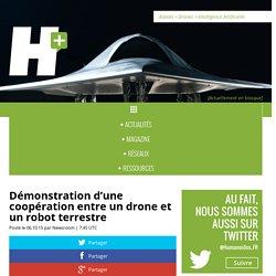 Démonstration d'une coopération entre un drone et un robot terrestre