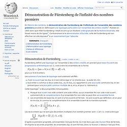 Démonstration de Fürstenberg de l'infinité des nombres premiers