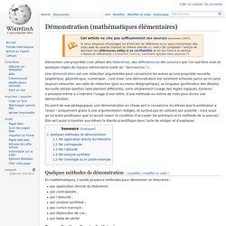 Démonstration (mathématiques élémentaires)
