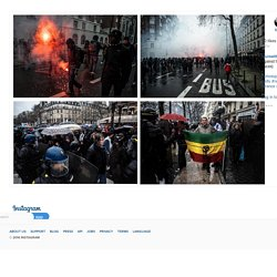 """Louis Witter on Instagram: """"Students demonstration in Paris today against the new labor law. (Louis Witter © Hans Lucas) #photojournalism #photography #picture #news #info #new #color #colors #fight #cops #protest #france #french #police"""""""