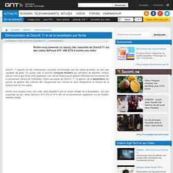 Démonstration de DirectX 11 et de la tessellation par Nvida