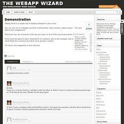 Demonstration | The WebApp Wizard